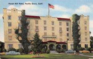 Forest Hill Hotel, Pacific Grove, California, Early Postcard, Unused