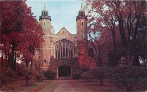Lewiston Maine~Bates College~Chapel~Autumn Leaves~1968 Postcard