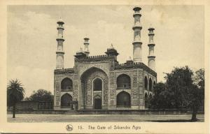 india, AGRA, The Gate of Sikandra Tomb of Akbar the Great (1910s)