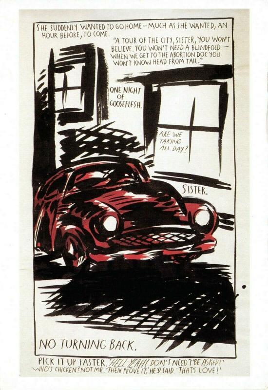 Art Postcard, She Suddenly Wanted (1990) by Ray Pettibon 27R