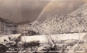 Arizona Tucson Rainbow Above Sabin Canyon Reservoir Real Photo