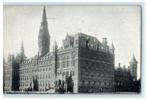 Georgetown University Washington DC 1909 Bryan OH Photo Vintage Antique Postcard