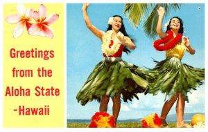 Hawaii  GREETINGS  Hula Maidens