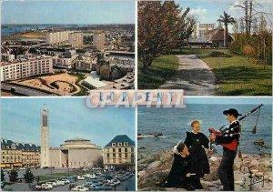 Modern Postcard Lorient Morbihan General view of the Bay Garden of Faouedic
