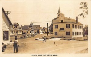 Cape Porpoise ME Texaco Gas Station The Square Real Photo Postcard