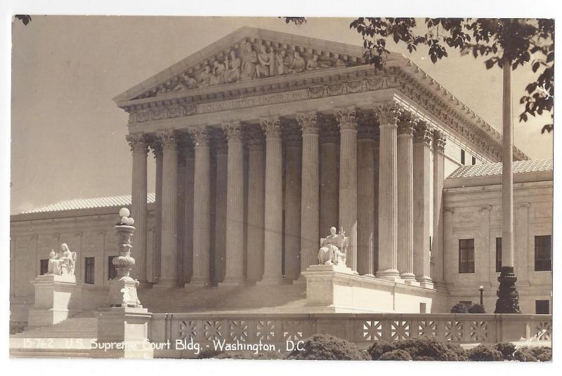 RP Washington DC Supreme Court Building Real Photo Post Card