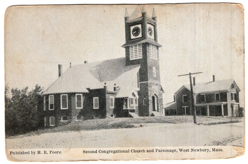 West Newbury, Mass, Second Congregational Church and Parsonage