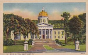 Vermont Montpelier State Capitol