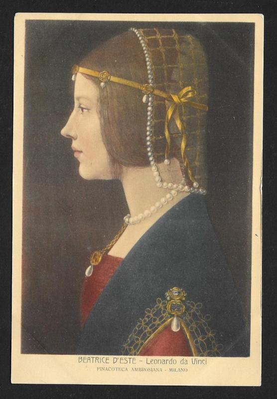 Beatrice D'Este da Vinci Unused c1920s