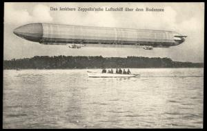 Germany Pioneer Zeppelin Airship In Flight Over Bodensee Lake Constance PP 78651