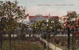 Beautiful Oregon A Rose Garden Portland Oregon 1910