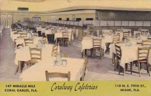 Florida Miami Coralway Cafeterias