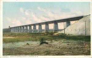 C-1910 Railroad Santa Fee Bridge Summit New Mexico Phostint Postcard 11941