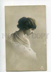 3108352 Semi-Nude BELLE Girl LADY Vintage PHOTO 1913 year RPPC