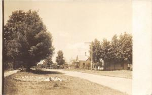 Morley Michigan~4th Street Residential Area~c1910 RPPC Real Photo Postcard