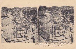 GREECE, 1900-1910s; Meteores, Monastere Haghia Trias