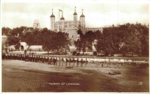 UK Tower of London Real Photo 01.91