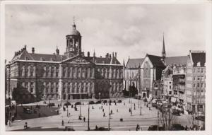 Netherlands Amsterdam Dam With Royal Palace and New Church Real Photo