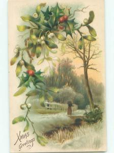 Divided-Back CHRISTMAS SCENE Great Postcard AA0112