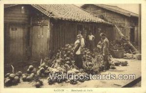Vietnam, Viet Nam,  Nhân Vật Saigon Merchads de fruits