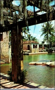 Fine Architecture Shining Water in Scenic Southland of Florida Postcard c.1954
