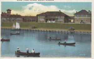 ALLANDALE , Ontario , Canada , 1910s ; Grand Trunk Railroad Train Station