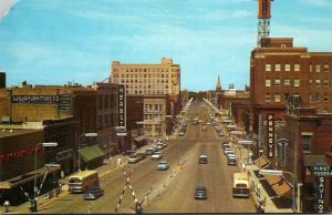 North Dakota Fargo Broadway Looking North 1964