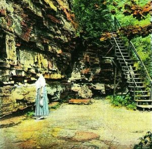 Post Office at Ausable Chasm New York NY UNP 1920s Vtg Postcard Unused