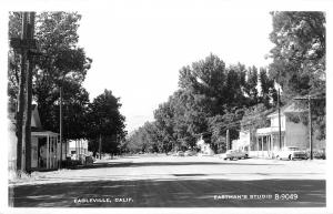 Eagleville California~Main Street~Club & Restaurant~1950s Cars~Real Photo~RPPC