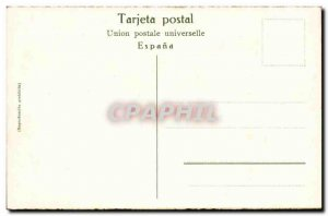 Old Postcard Corrida de Toros Una para (bull bullfight)