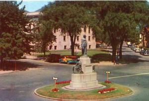 MA - Lynn, Soldiers' Monument, Library & Common