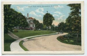 South Park Drive Greensboro North Carolina 1923 postcard