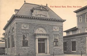 Elmer New Jersey~1st National Bank~Bicycle Leans On Wall~South Main Street~1908