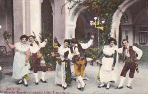 SORRENTO, Italy, 1900-1910's; Grande Tarantella, Imperial Hotel Tramontano