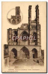 Old Postcard Soissons Cathedral Facade Of The F