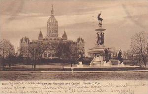 Scenic view,  Corning Fountain and Capitol,  Hartford,  Connecticut,  PU_1901