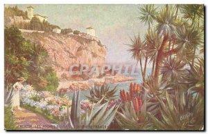 Old Postcard Menton Les Roches Rouges