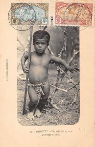 Djibouti Un nain de 17 ans (90 centimetres) 17 years old dwarf midget 1913