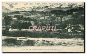 Pau Old Postcard The d & # 39ossau bottom view of the royal square