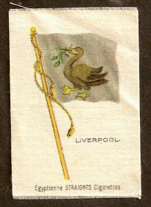 TURN OF CENTURY CIGARETTE SILK - LIVERPOOL FLAG