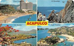 Mexico Acapulco Playa Caletilla Los Muelles El Clavadista Beach Boats Hotel