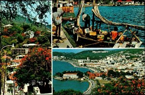 CI01345 virgin islands st thomas boat marina netherlands antilles caribbean sea