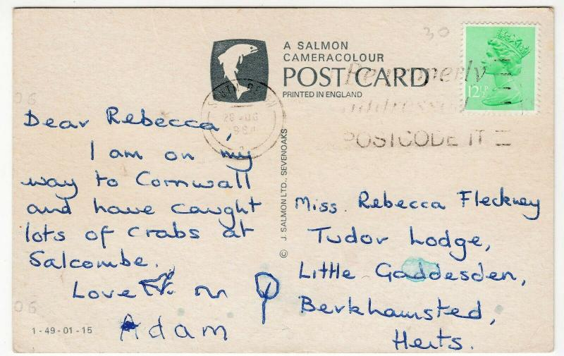 The Lifeboat, Salcombe No 964 'The Baltic Exchange' PPC By salmon, 1984 PMK