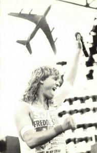 Postcard Joe Elliott Def Leppard at Castle Donnington, Boeing East Midlands 61P