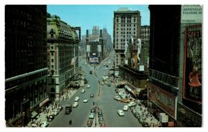 1950s/60s Times Square, New York City Camel Cigarettes Postcard *5N13