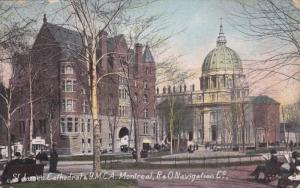 St. James Cathedral & Y. M. C. A., MONTREAL, Quebec, Canada, 1900-1910s