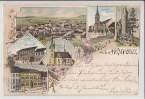 Litho 1900 Czech Republic Vysočina Region Pozdrav z HUMPOLCE Humpolec Humpoletz