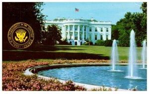 The White House Washington DC Vintage Postcard Postmark 1975