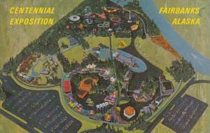 Alaska Fairbanks Alaska '67 Centennial Exposition Aerial View