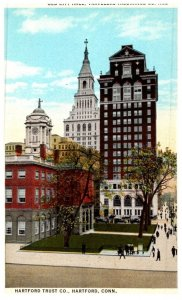 Connecticut Hartford  ,Old City Hall, Travelers Ins. , Hartford trust Co.